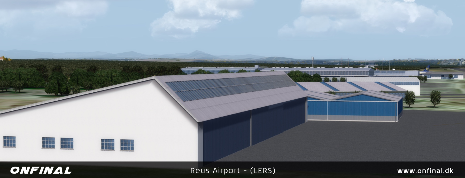Reus Airport LERS Overview Night P3D Scenery